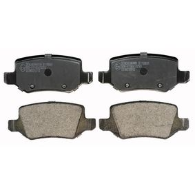 Brake Pad Set, disc brake Height: 41,7mm, Thickness: 14,3mm with OEM Number A 168 420 0420