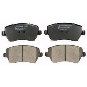Bremsbelagsatz, Scheibenbremse Höhe: 52,6mm, Dicke/Stärke: 16,9mm mit OEM-Nummer 41060-AX625-
