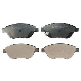 Bremsbelagsatz, Scheibenbremse Höhe: 57,2mm, Dicke/Stärke: 17,9mm mit OEM-Nummer 1605236