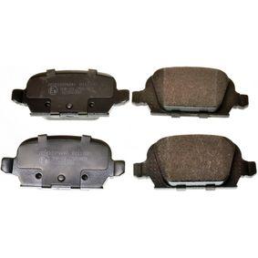 Bremsbelagsatz, Scheibenbremse Breite: 95,6mm, Höhe: 43,8mm, Dicke/Stärke: 14mm mit OEM-Nummer 92 00 132