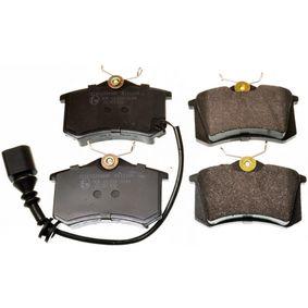 Bremsbelagsatz, Scheibenbremse Breite: 87,2mm, Höhe: 52,9mm, Dicke/Stärke: 17,2mm mit OEM-Nummer 6Q0698451