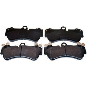 Bremsbelagsatz, Scheibenbremse Breite: 190mm, Höhe: 99,4mm, Dicke/Stärke: 16,6mm mit OEM-Nummer 7H0 698 151A
