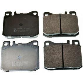 Bremsbelagsatz, Scheibenbremse Breite: 89,6mm, Höhe: 73,8mm, Dicke/Stärke: 16,7mm mit OEM-Nummer A000 420 9520