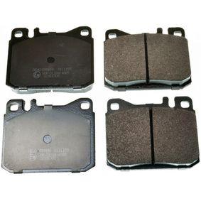 Bremsbelagsatz, Scheibenbremse Breite: 89,6mm, Höhe: 73,8mm, Dicke/Stärke: 16,7mm mit OEM-Nummer A0014207520