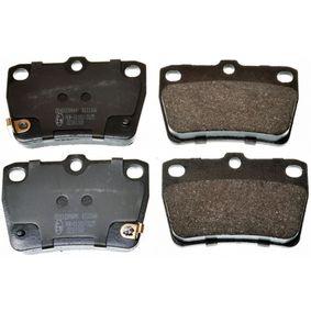 Brake Pad Set, disc brake B111166 RAV 4 II (CLA2_, XA2_, ZCA2_, ACA2_) 2.0 D 4WD (CLA20_, CLA21_) MY 2003