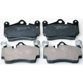 Bremsbelagsatz, Scheibenbremse Breite: 112mm, Höhe: 73mm, Dicke/Stärke: 16,7mm mit OEM-Nummer 8J0.698.151A