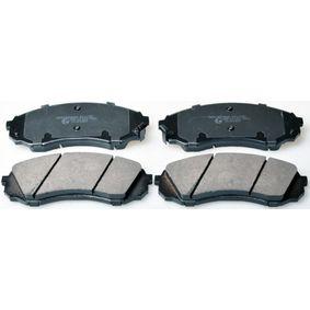 Bremsbelagsatz, Scheibenbremse Breite: 164,5mm, Höhe: 63,4mm, Dicke/Stärke: 17,6mm mit OEM-Nummer 58101 4DE00