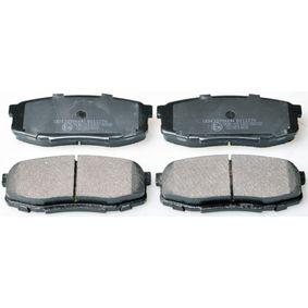 Bremsbelagsatz, Scheibenbremse Breite: 116,3mm, Höhe: 44,6mm, Dicke/Stärke: 17,3mm mit OEM-Nummer 1K0-698-451-L