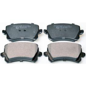 Bremsbelagsatz, Scheibenbremse Breite: 105,2mm, Höhe: 56,4mm, Dicke/Stärke: 16,9mm mit OEM-Nummer 1K0698451L