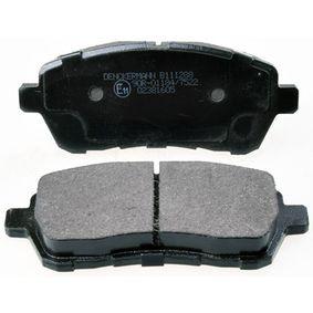 Brake Pad Set, disc brake B111288 FIESTA 6 1.6 TDCi MY 2019