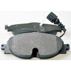 Kit de plaquettes de frein, frein à disque Largeur: 160mm, Hauteur: 64,8mm, Épaisseur: 20,3mm avec OEM numéro 5Q0-698-151-B