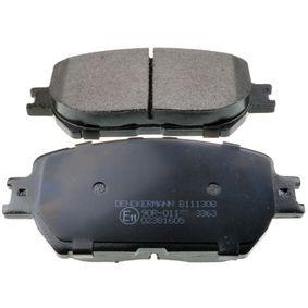 Bremsbelagsatz, Scheibenbremse Breite: 131,4mm, Höhe: 58,5mm, Dicke/Stärke: 17,3mm mit OEM-Nummer 04465 33 250