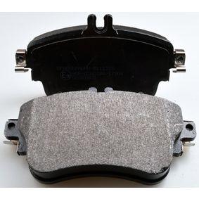Bremsbelagsatz, Scheibenbremse Breite: 129mm, Höhe: 71,3mm, Dicke/Stärke: 19,3mm mit OEM-Nummer A008 420 0420