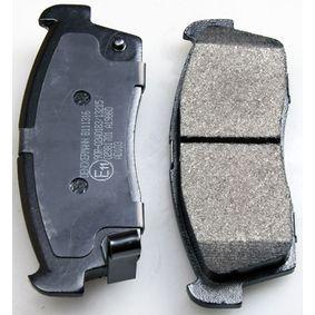 Bremsbelagsatz, Scheibenbremse Breite: 108,5mm, Höhe: 42,2mm, Dicke/Stärke: 14,6mm mit OEM-Nummer 7E0 698 151
