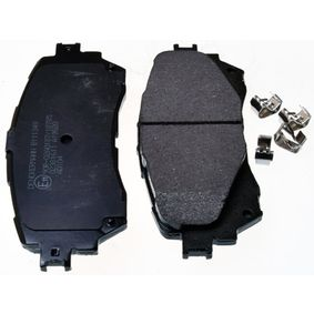 Brake Pad Set, disc brake Height: 59,6mm, Thickness: 15,5mm with OEM Number BHY1-332-8ZA