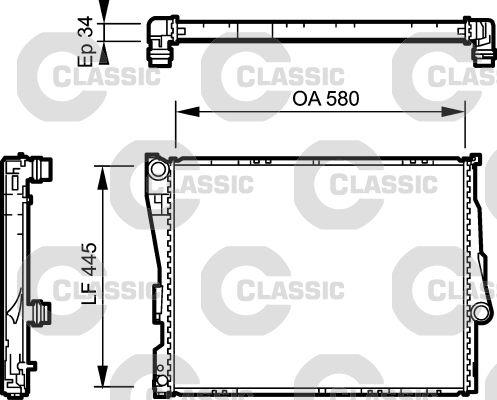 VALEO CLASSIC 234276 Radiateur, refroidissement du moteur