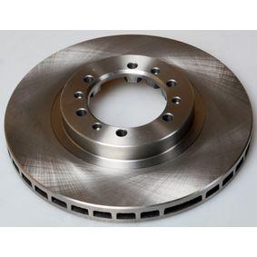 Brake Disc Brake Disc Thickness: 24,0mm, Num. of holes: 6, Ø: 276mm, Ø: 276mm with OEM Number MB928697