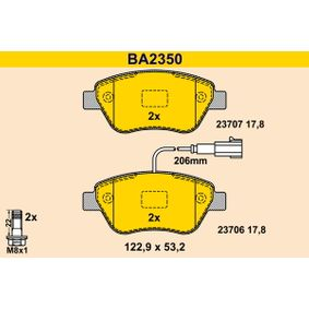 Bremsbelagsatz, Scheibenbremse Breite: 122,9mm, Höhe: 53,2mm, Dicke/Stärke: 17,8mm mit OEM-Nummer 71770098