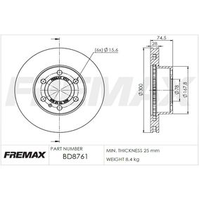 Bremsscheibe Bremsscheibendicke: 28mm, Ø: 300mm, Ø: 300mm mit OEM-Nummer 5801639518