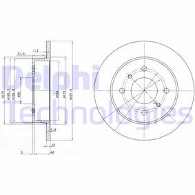 DELPHI  BG2633C Bremsscheibe Bremsscheibendicke: 10mm, Lochanzahl: 4, Ø: 258mm