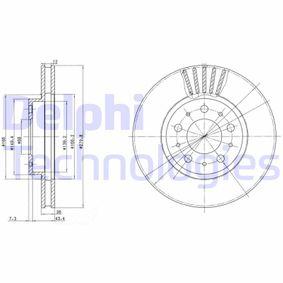 DELPHI  BG2841C Bremsscheibe Bremsscheibendicke: 26mm, Lochanzahl: 5, Ø: 280mm