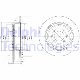 DELPHI  BG2873C Bremsscheibe Bremsscheibendicke: 10mm, Lochanzahl: 4, Ø: 290mm