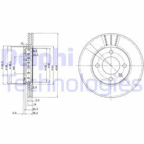 DELPHI  BG2982C Bremsscheibe Bremsscheibendicke: 18mm, Lochanzahl: 4, Ø: 239mm