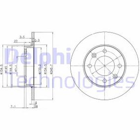 Disco de freno BG3653C C3 I Hatchback (FC_, FN_) 1.4 16V HDi ac 2011