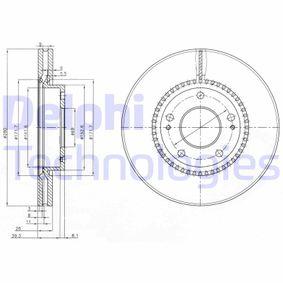 Bremsscheibe Bremsscheibendicke: 26mm, Ø: 280mm mit OEM-Nummer 517 121 F300
