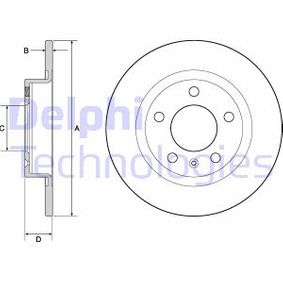 2014 Vauxhall Corsa D 1.4 Brake Disc BG4675