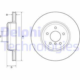 DELPHI  BG4753C Bremsscheibe Bremsscheibendicke: 24mm, Lochanzahl: 5, Ø: 345mm
