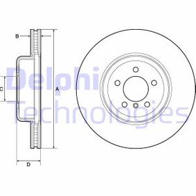 Brake Disc Brake Disc Thickness: 30mm, Num. of holes: 5, Ø: 370mm with OEM Number 34 10 6 797 606
