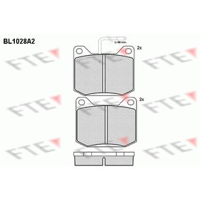 Brake Pad Set, disc brake Height: 64,6mm, Thickness: 17mm with OEM Number 4245.46