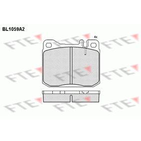 Bremsbelagsatz, Scheibenbremse Breite: 89,7mm, Höhe: 73,9mm, Dicke/Stärke: 17,5mm mit OEM-Nummer 001 420 9920