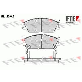 Bremsbelagsatz, Scheibenbremse Breite: 127,5mm, Höhe: 49mm, Dicke/Stärke: 15mm mit OEM-Nummer 5810124B00