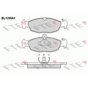 Комплект спирачно феродо, дискови спирачки BL1299A1 Corsa B Хечбек (S93) 1.4i 16V (F08, F68, M68) Г.П. 1997