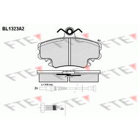 Bremsbelagsatz, Scheibenbremse Höhe: 64,9mm, Dicke/Stärke: 18mm mit OEM-Nummer 7701201774