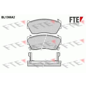 Bremsbelagsatz, Scheibenbremse Höhe: 47,9mm, Dicke/Stärke: 16,5mm mit OEM-Nummer 4106050Y90
