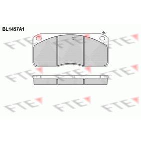 Kit pastiglie freno, Freno a disco Alt.: 78mm, Spessore: 22mm con OEM Numero 2 711 90