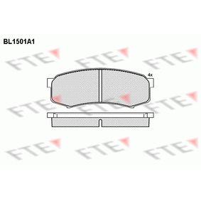 Bremsbelagsatz, Scheibenbremse Höhe: 43,3mm, Dicke/Stärke: 15,5mm mit OEM-Nummer 0446660140