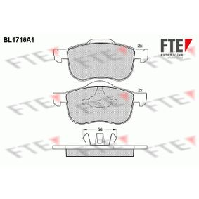 Brake Pad Set, disc brake Height 2: 68,9mm, Height: 72,4mm, Thickness: 18,8mm with OEM Number 3064 8386