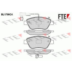 Bremsbelagsatz, Scheibenbremse Höhe: 53,2mm, Dicke/Stärke: 17,8mm mit OEM-Nummer 71770118