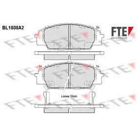 Brake Pad Set, disc brake Width: 135,1mm, Height: 52mm, Thickness: 16mm with OEM Number 45022- SMT-E50