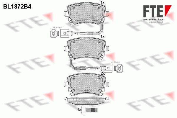 FTE  BL1872B4 Bremsbelagsatz, Scheibenbremse Höhe: 58,92mm, Dicke/Stärke: 17,4mm