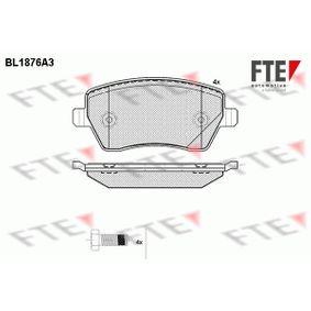 Nissan Micra K12 1.5dCi Bremsbeläge FTE BL1876A3 (1.5dCi Diesel 2004 K9K 704)