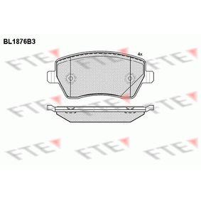 Nissan Micra K12 1.5dCi Bremsbeläge FTE BL1876B3 (1.5dCi Diesel 2006 K9K 704)
