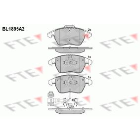 Bremsbelagsatz, Scheibenbremse Höhe 2: 71,5mm, Höhe: 66mm, Dicke/Stärke: 20,3mm mit OEM-Nummer 3C0.698.151A