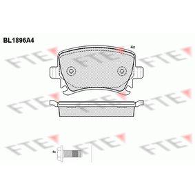 Bremsbelagsatz, Scheibenbremse Höhe: 56mm, Dicke/Stärke: 17mm mit OEM-Nummer 4F0698451D