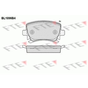 Bremsbelagsatz, Scheibenbremse Höhe: 56mm, Dicke/Stärke: 17mm mit OEM-Nummer 4F0 698 451 D