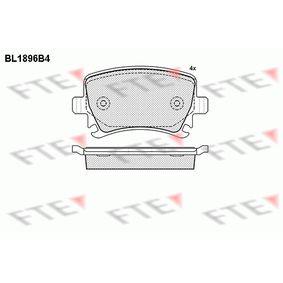 Bremsbelagsatz, Scheibenbremse Höhe: 56mm, Dicke/Stärke: 17mm mit OEM-Nummer 1K0 698 451H